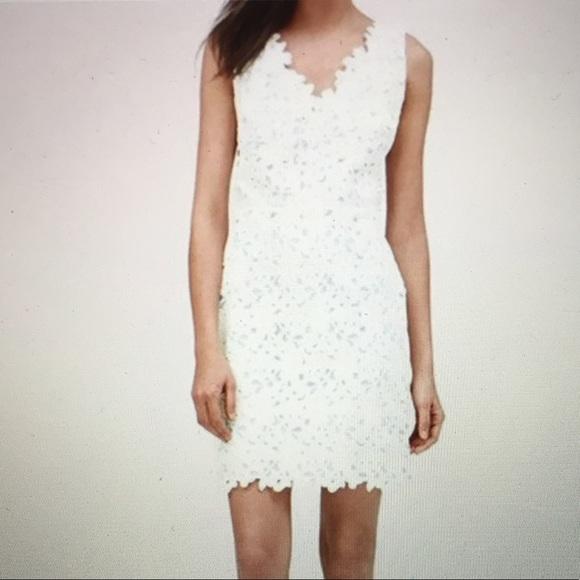 b9f39d6c6fb4e Ann Taylor Loft Dresses   Skirts - Ann Taylor Loft White Floral Lace Dress